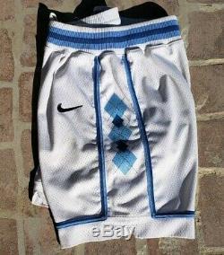 Vtg Nike Équipe Unc Caroline Du Nord Tar Heels Accueil Basketball Shorts 34