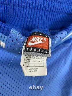 Vtg Nike North Carolina Tar Heels Unc Authentic Basketball Shorts Taille 36 (l)