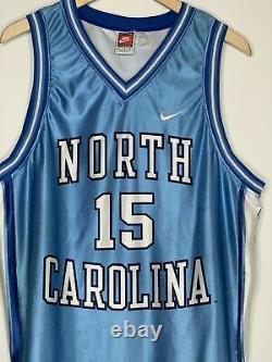 Vtg Nike X Unc North Carolina Tar Talons Vince Carter #15 Jersey Made In USA L