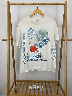 Vtg Salem En Caroline Du Nord Sportswear Unc Tar Heels Aerial Assault T-shirt Taille XL
