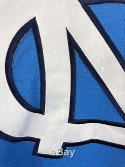 Vtg Starter Ncaa Unc Tarheels Maillot De Hockey De La Caroline Du Nord 2xl Tn-o.
