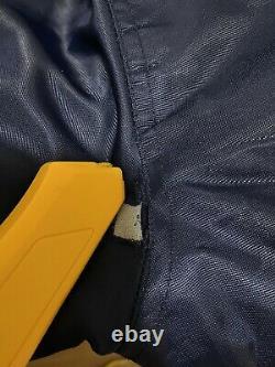 Vtg Starter Unc Tar Heels Big Spellout Satin Bomber Jacket Taille L