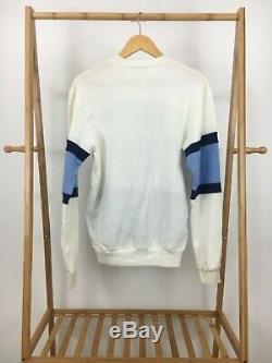 Vtg Tn-o Muscade Mills Unc Tar Heels Big Crest Logo Color Block Sweat M Rare