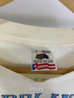 Vtg Unc Carolina Tarheels Simplement Le Meilleur Wrap Around All Over T-shirt Imprimé L