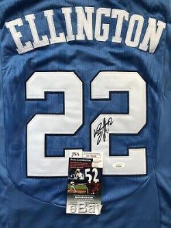 Wayne Ellington Signé Tar Heels Unc Jersey Jsa # 22 Coa Knicks Heat Nba Rare